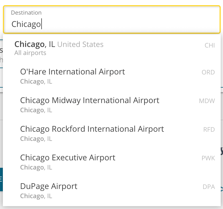 multiple airports in chicago