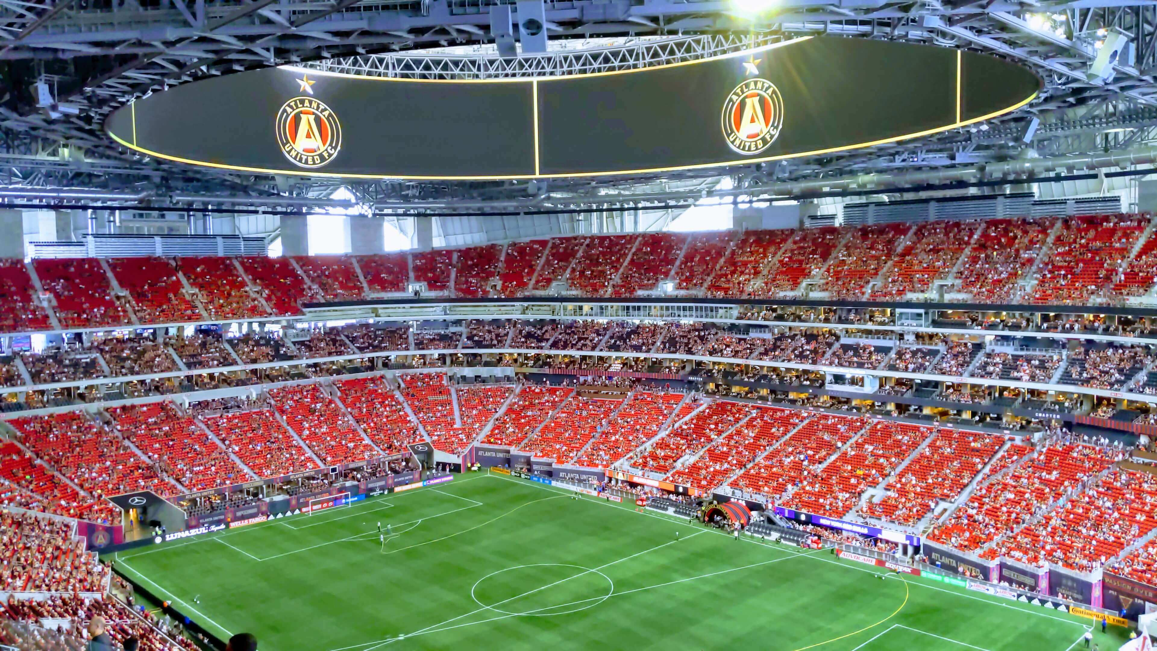 Atlanta united Mercedez Benz soccer stadium | FlyCheapAlways