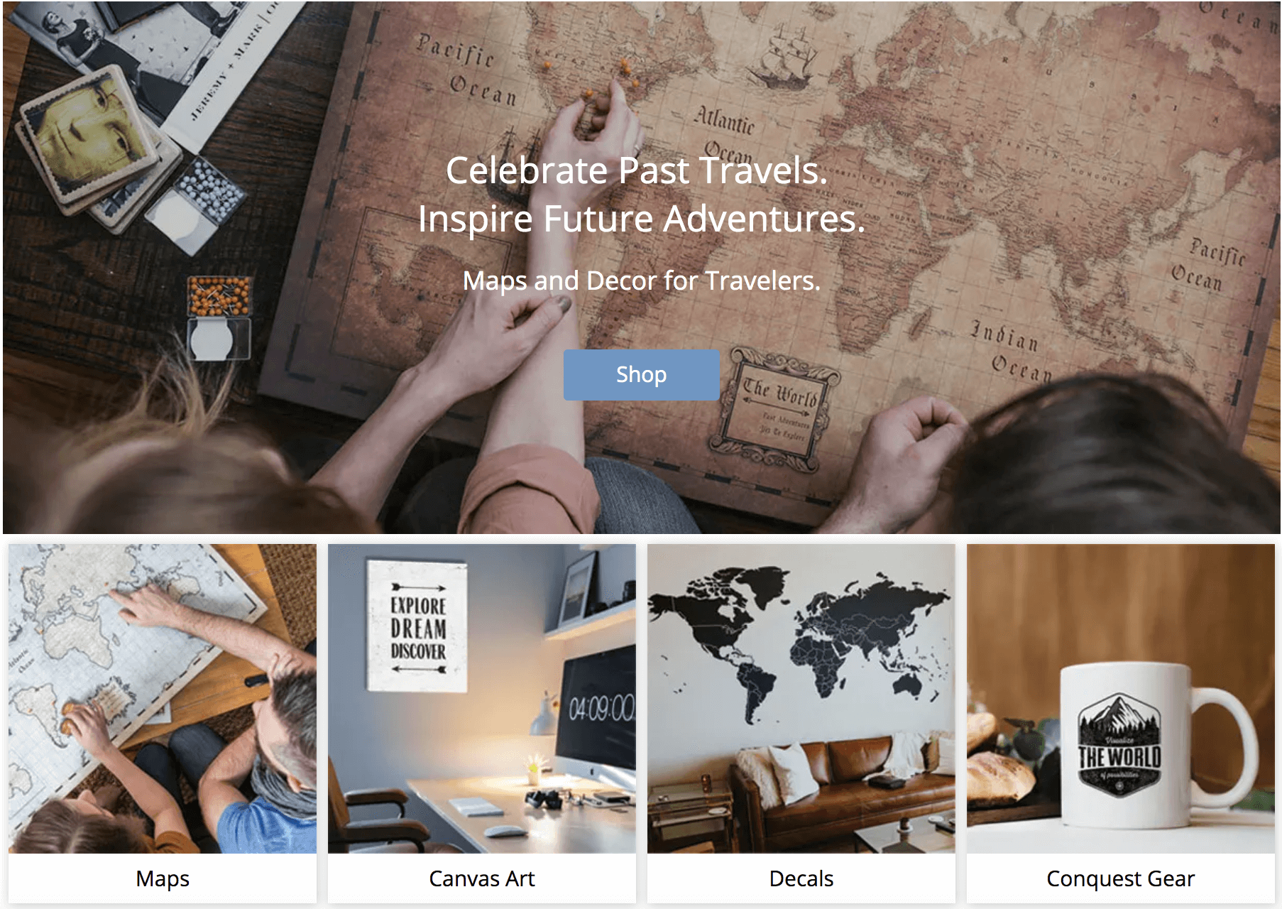 Map and Decor for travelers | FlyCheapAlways